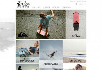 Miniaturbild zu Projekt PURE Surfshop