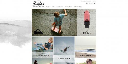 Diese Seite enthält detaillierte Informationen über das Projekt: PURE Surfshop