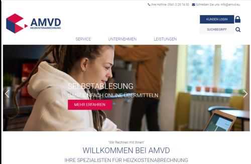 Diese Seite enthält detaillierte Informationen über das Projekt: Webseiten-Relaunch der AMVD
