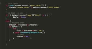 Code Beispiel Facebook API