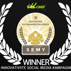 Diesen Artikel lesen: idolCARD gewinnt den Semy Award 2015