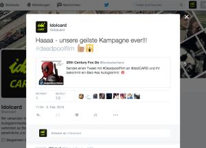 idolcard-tweet-geile-kampagne