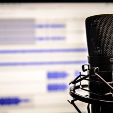 Mikrofon bei einer Radiosendung