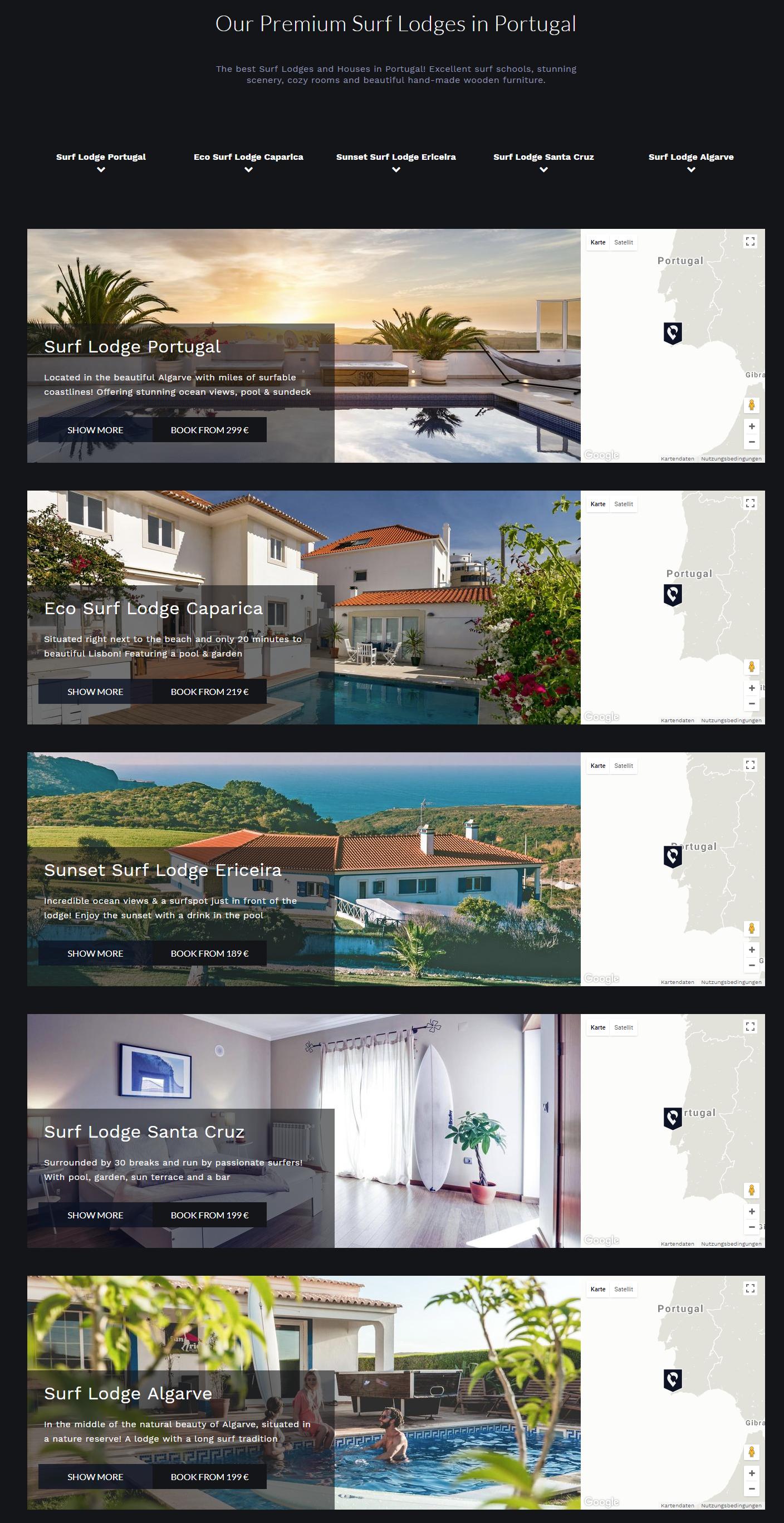 Startseite Surflodges Portugal