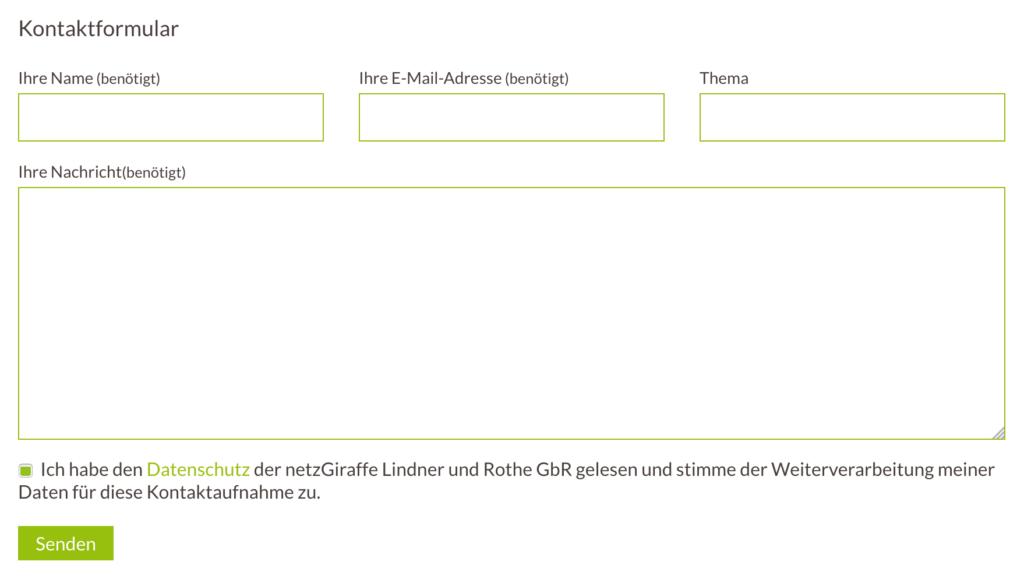 Follow Up Dsgvo 2 Formular Checkbox Netzgiraffe